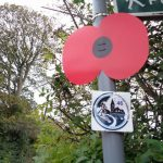 A Royal British Legion lamppost poppy. It was mounted as part of our community works around Lawley and Overdale Parish.