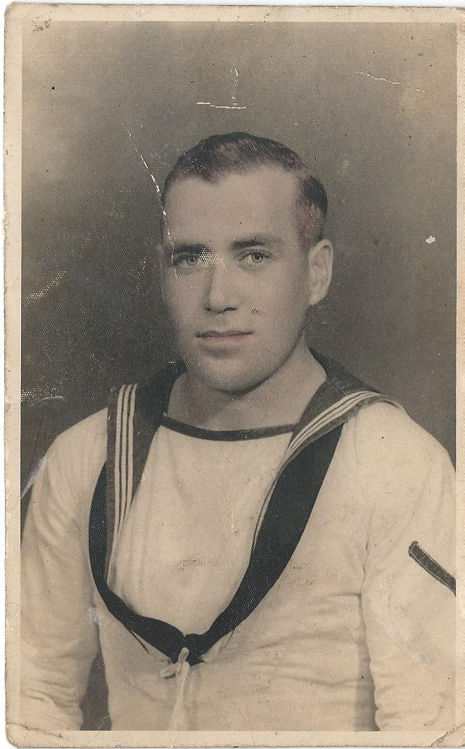 A photograph of Carol's dad, Tom, in uniform