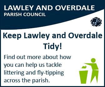 Keep Lawley and Overdale Tidy! Find out more about how you can help us tackle littering and fly-tipping across the parish