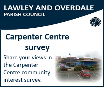 A promotional image asking people to share their views in the Carpenter Centre community interest survey
