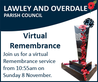 Lawley and Overdale Parish Council - Virtual Remembrance - Join us for a virtual Remembrance service from 10:55am on Sunday 8 November